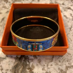 Hermes Gold Plated Bangle size 65